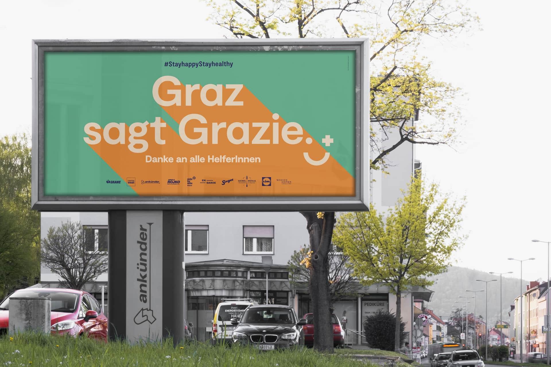 Corona #stayhappy Graz Plakat