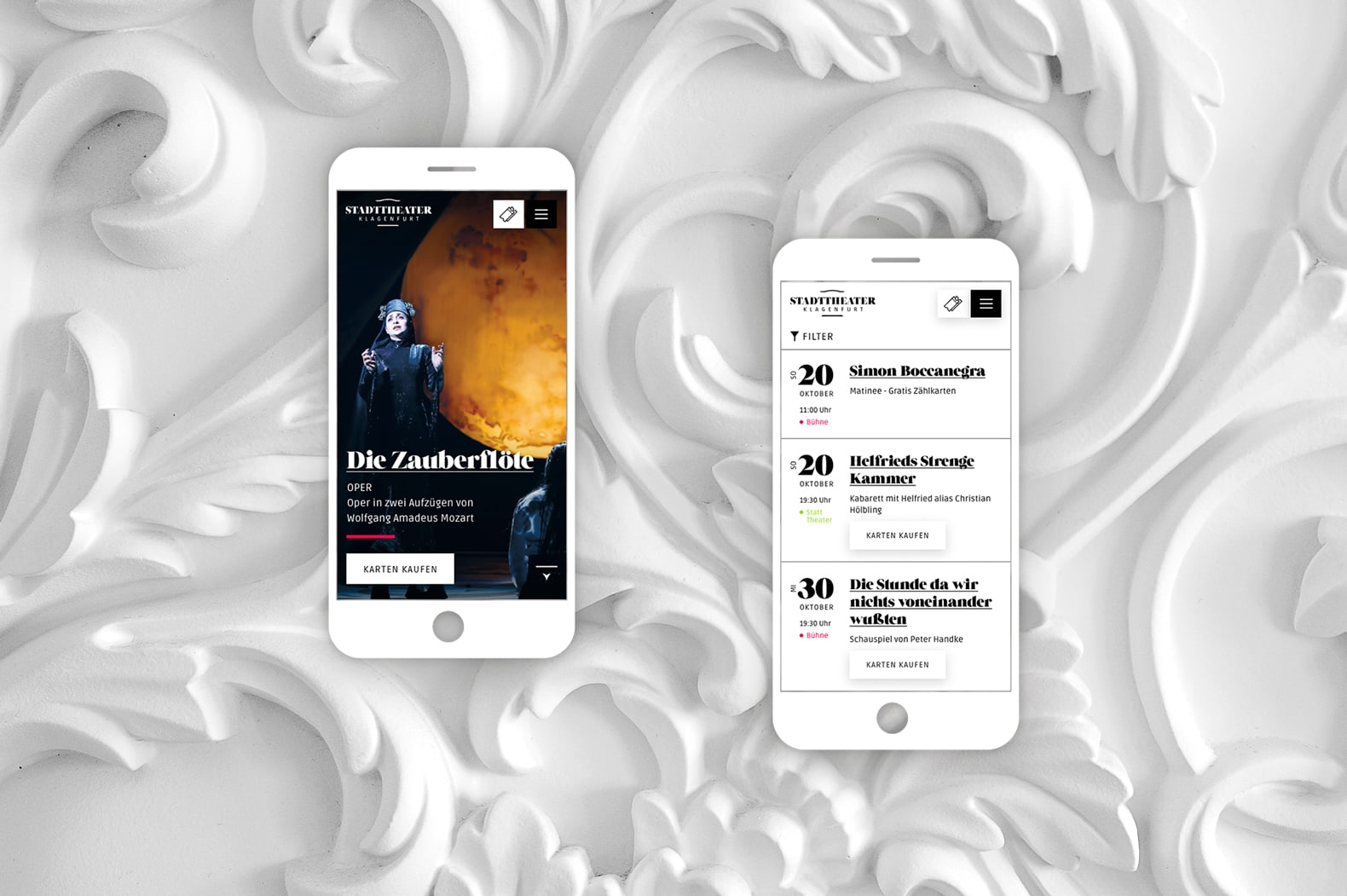 Salzburger Festspiele Website Mobile