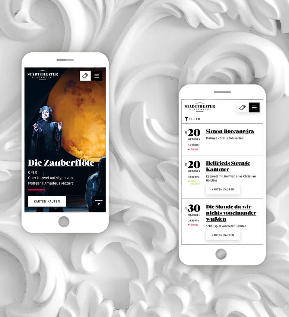 Salzburger Festpiele Website Mobile