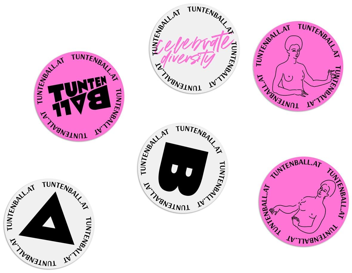 Tuntenball Celebrating Diversity Sticker
