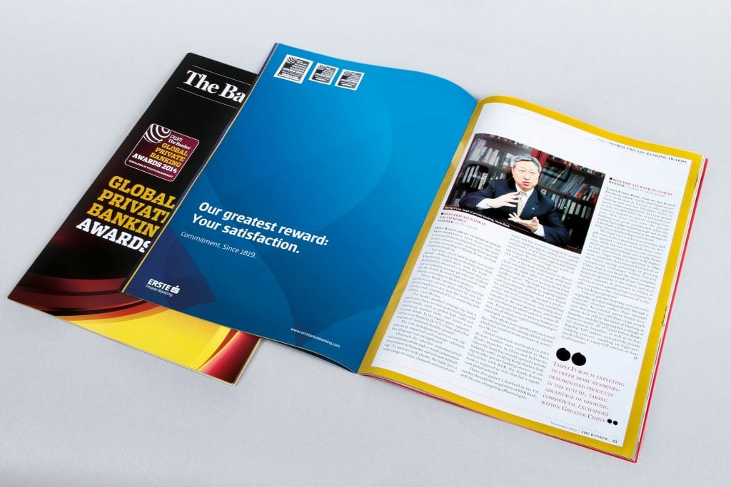 Erste Group Bank AG Print Ad