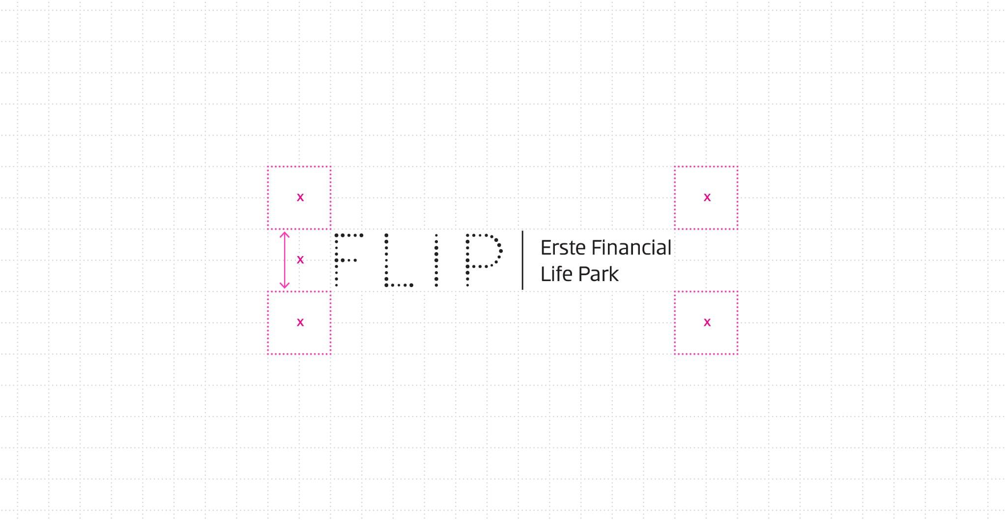 FLiP Erste Financial Life Park Branding Logo Clearspace