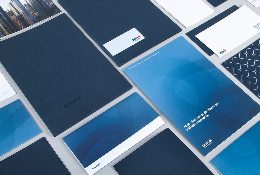 Erste Group Bank AG Branding Stationary