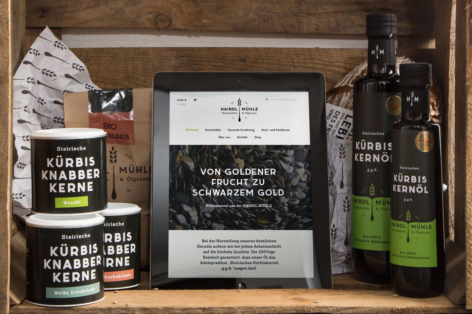 Haindlmuehle Branding Productshot