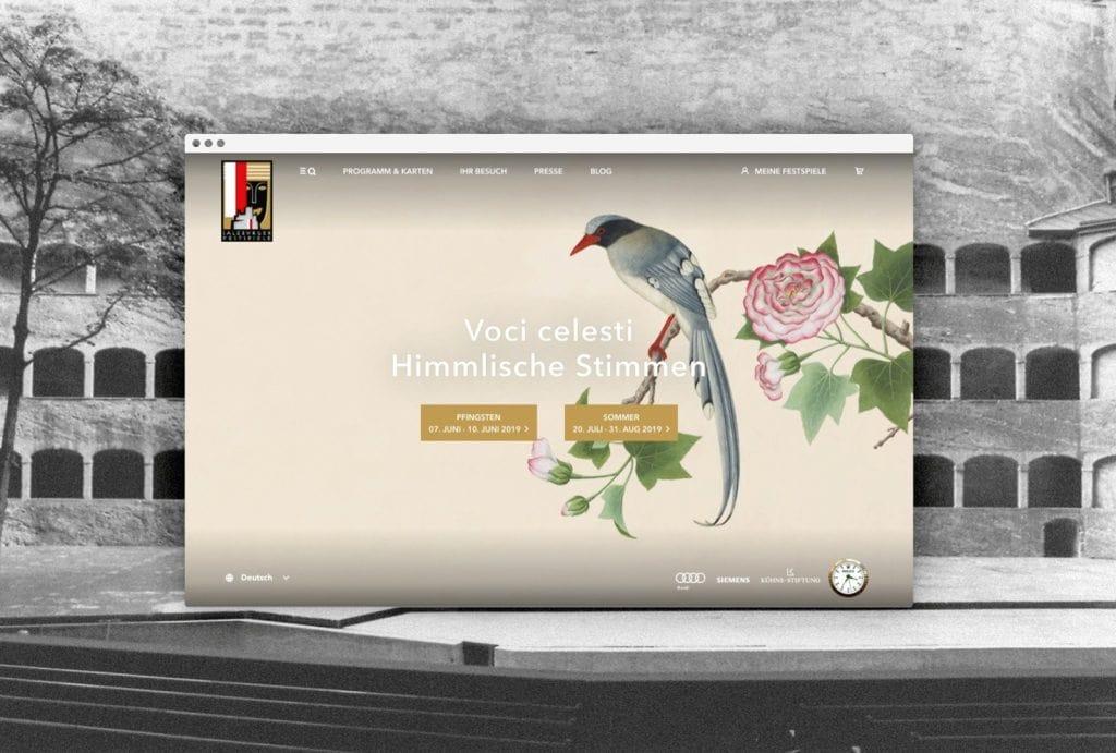 Salzburger Festspiele Website Desktop Startseite