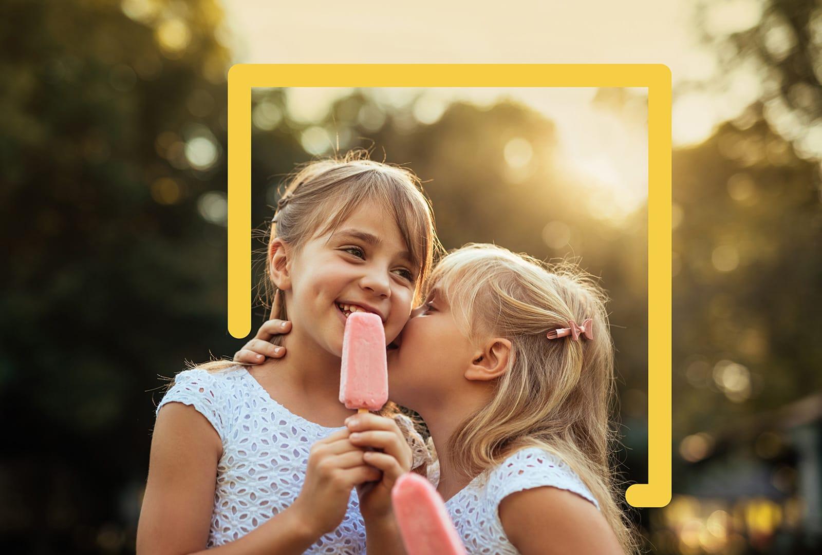 JUFA Hotels Branding Mädchen mit Eis