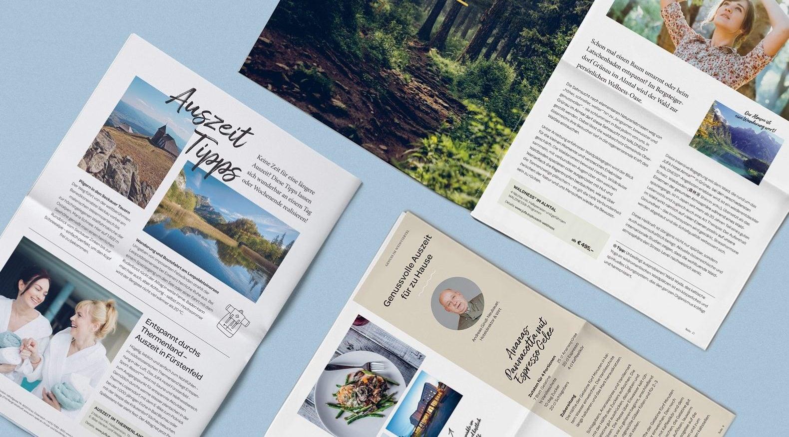 JUFA Hotels Auszeit Folder Design