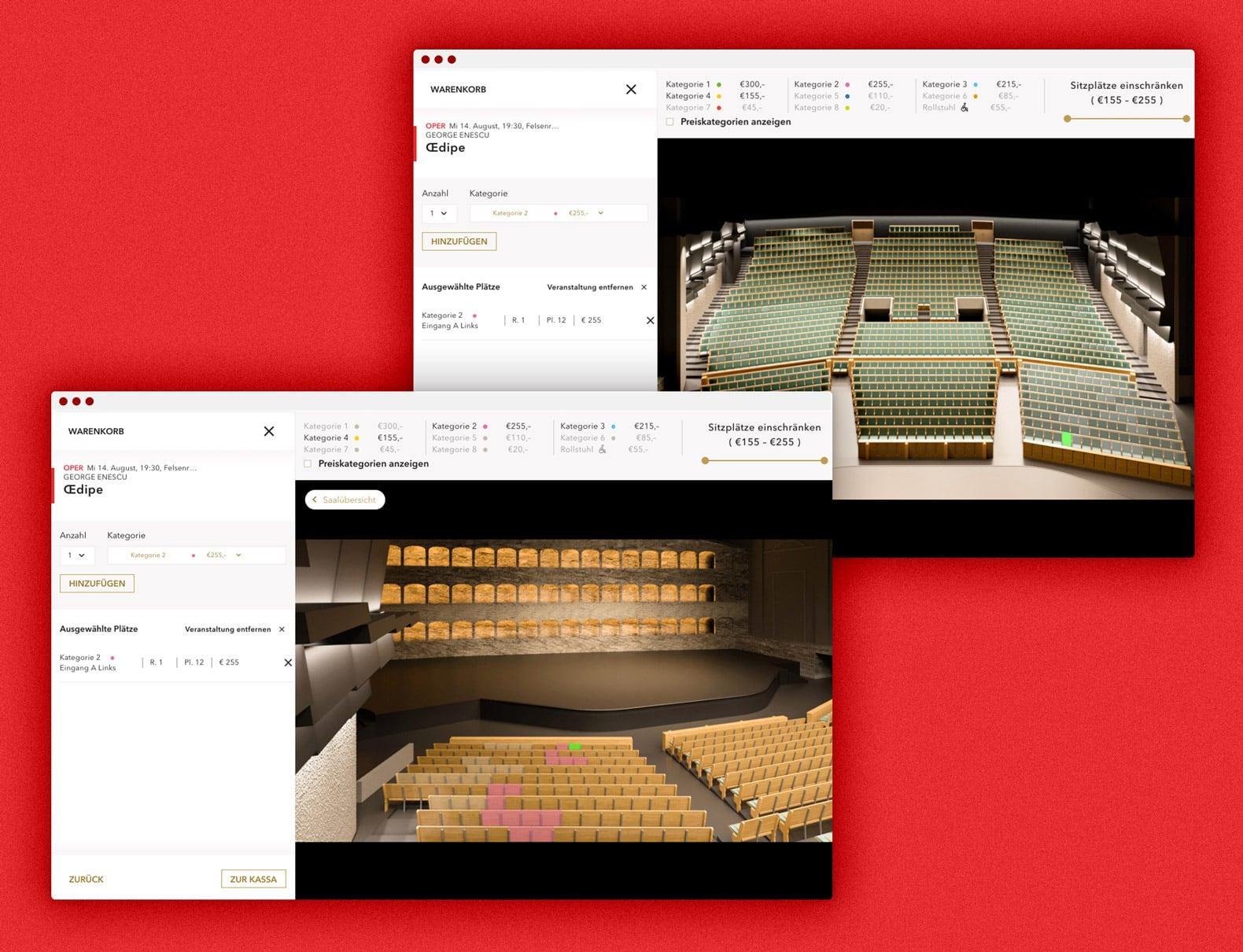 Salzburger Festspiele Website Desktop Oedipe Platzauswahl