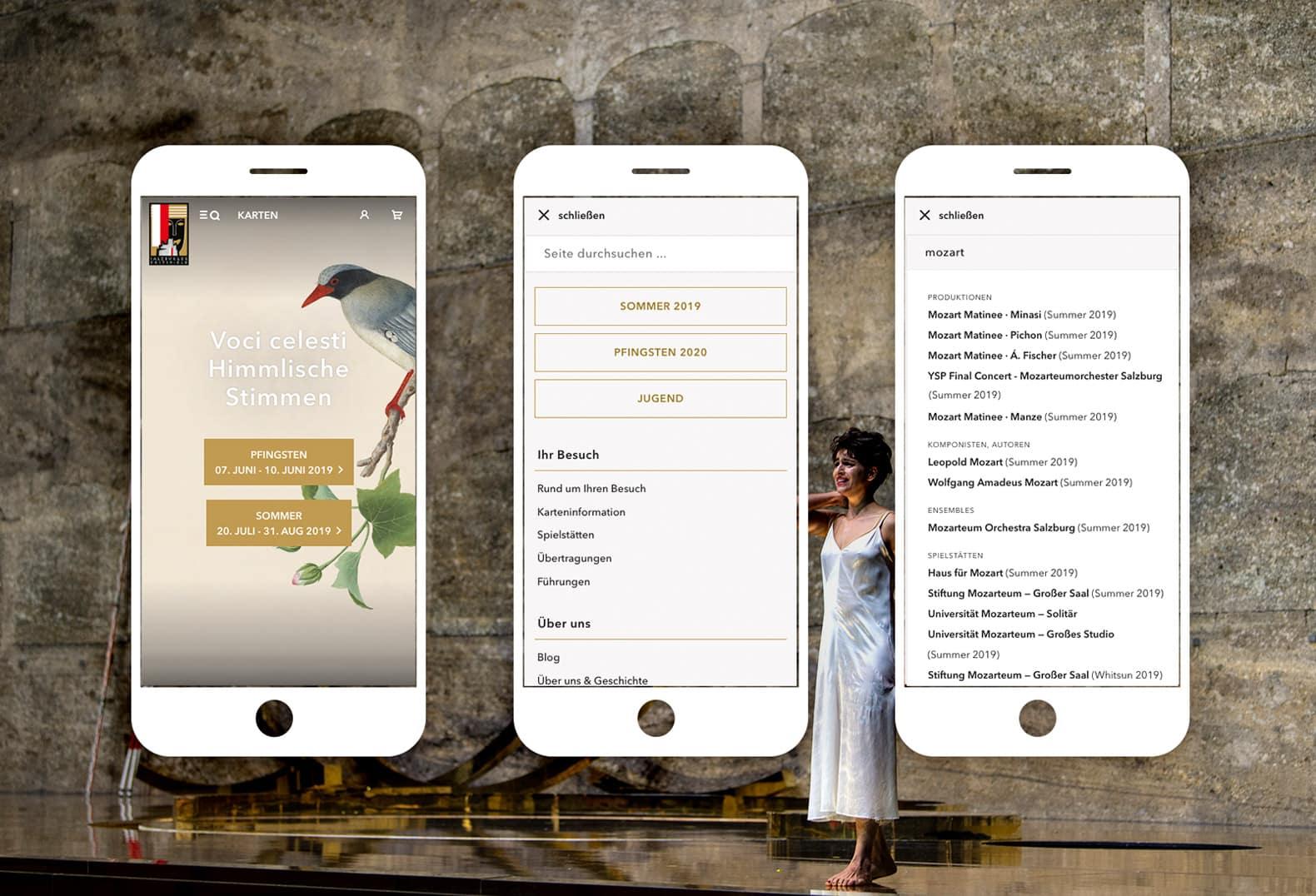 Salzburger Festspiele Website Mobile Ubersicht